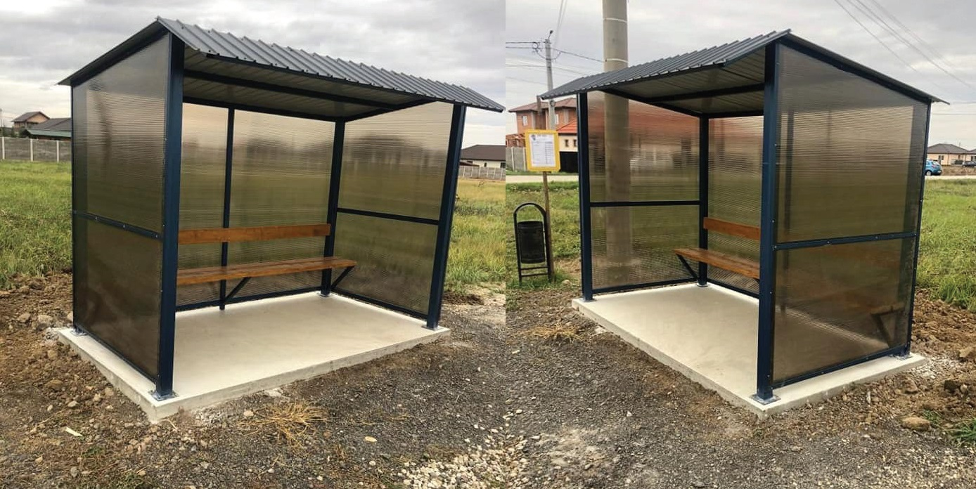 Stații de autobuz noi, pe mai multe străzi din comună