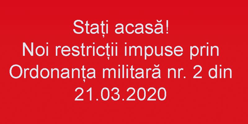 ORDONANȚA MILITARĂ  nr. 2 din 21.03.2020